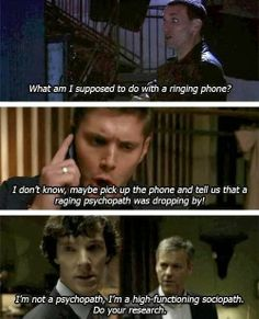 Superwholock. I'm not interested in Supernatural and probably never will be, but this was funny.