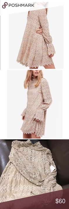 FREE PEOPLE Lace Mini Dress Gorgeous FREE PEOPLE Lace Mini Dress.  Great for parties, weddings, nights out, or boho with boots.  The all occasion knockout go to dress. Free People Dresses Mini