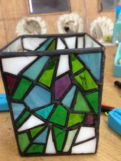 玻璃鑲嵌筆筒  0808/2013