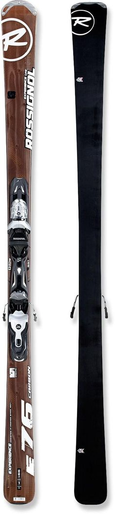 The all-mountain Rossignol Experience 76 Aramide skis with bindings are ready for everything from winding cat tracks to wind-blown crud.