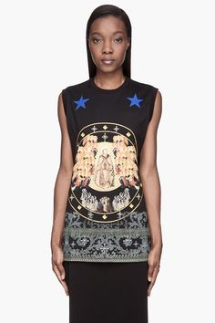 GIVENCHY Black Canon Print T-Shirt