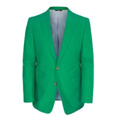 OVADIA & SONS $995 green canvased cotton slim sport coat blazer jacket 40/50 NEW