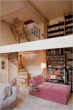 A bohemian home in Paris, love the stairs