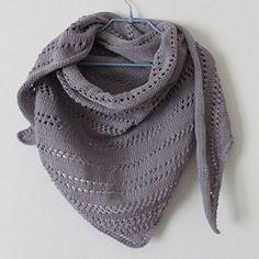 Châle ajouré gris perle / tricot / Knitting / DIY                              …