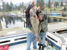 Very Exciting - Total Adrenaline Rush  My 50 lb. Halibut. Needed help lifting it up but not reeling it in.