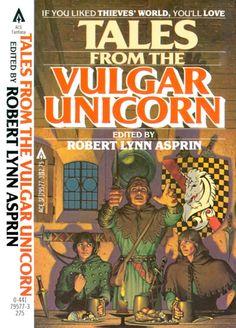 "Tales from the Vulgar Unicorn (Thieves World - Book Two) Ed. Robert Asprin.   The Vulgar Unicorn the iconic / quintessential / cliche fantasy ""pub"" where characters meet."