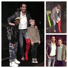 """Had a blast last night at Kinky Boots. Great cast! """"You change the world when you change your mind"""" :) Hgtv Property Brothers, Jonathan Silver Scott, Scott Brothers, Cute Little Dogs, Drew Scott, Heart For Kids, Man Alive, Embedded Image Permalink, Change The World"""