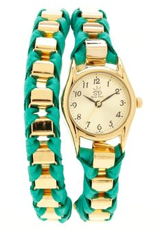 turquoise + gold watch