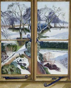 """John Nash, """"The Garden under Snow"""" (c. 1924-1930). He served with The Artists Rifles in WWI."""