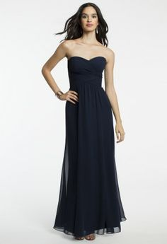 Cris Cross Chiffon Strapless Dress from Camille La Vie and Group USA