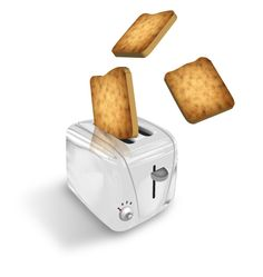Create a Toaster popping illustration I DIG THIS ONE BECAUSE I CAN USE IT TO LEARN TO MAKE GREAT METAL EFFECTS LIKE ON THE TOASTER