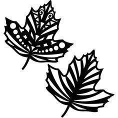 Silhouette Design Store - View Design #148754: tribal fall leaves