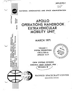 NASA Apollo Lunar Spacesuit guidebook. Published by NASA in 1971.