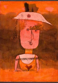 Portrait of Mrs. P. in the South by Paul Klee, 1924, Guggenheim Museum Size: 37.6x27.4 cm Medium: Watercolor and oil transfer drawing on paper, with gouache and ink on paperboard mount The Solomon R....