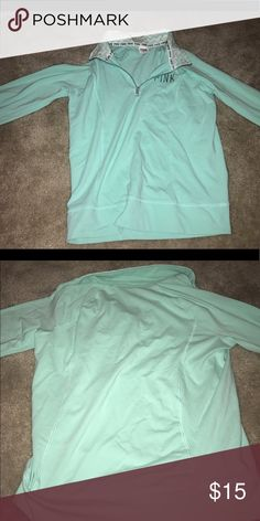 Tiffany blue/mint green VS pullover, never worn Cute jacket, size m, never worn PINK Victoria's Secret Jackets & Coats