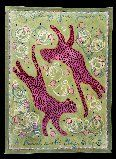 Kathy Cooper Floorcloths - Leopards, a hand painted floorcloth.   Showroom: SAMS M-4030  #hpmkt