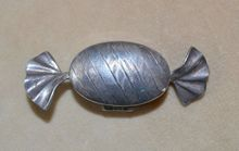 English Sweet Candy Pill Box Sterling Silver by Ari D Norman