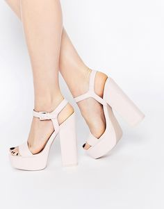 Image 1 of ASOS HIT THE JACKPOT Platform Heeled Sandals