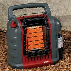 This heater you can use in your tent! I like to go camping when it is cold out, and this really heats up your tent in minutes. Uses a regular sized propane tank you get from any store. Be sure to get the carry bag to keep it clean when not using it.