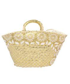 SHIPS for women Accessory(シップスフォーウィメンアクセサリー)のフラワーかごバッグ(かごバッグ)|ゴールド