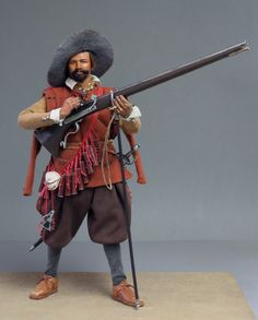 1/6th scale musketeer, Spanish army of Flanders, 1604.