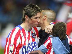 En su segunda etapa, con el 'Niño' En su segunda etapa en el Atlético de Madrid, el Cholo Simeone coincidió con Fernando Torres.