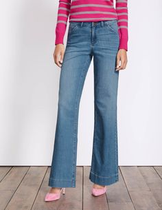 e5e5ca34 Boden Windsor Wide Leg Jeans Wide Jeans, Boden, Bell Bottom Jeans, Vintage  Ladies