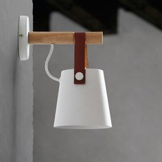 LED Wall Lamps Abajur for Living Room Wall Sconces Light Nordic Wooden belt Wall Light White/Black - The Nordic Hut Wooden Wall Lights, Wooden Lanterns, Hanging Lanterns, Wooden Walls, Wooden Lamp, Luminaire Mural, Luminaire Design, Mirror Lamp, Led Wall Lamp