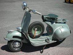 1952 Vespa I took my rod test on one of those. Strange machine- itty bitty wheels!