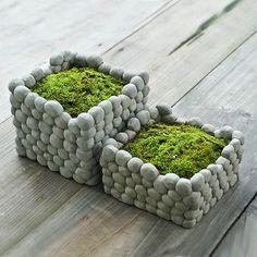 Square Stone Breathab Earthen Flower Pot Succulent Plants Flowerpot Home Garden Landscape Decoration