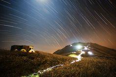 Sunset Peak Star Trail - Lantau Island, Hong Kong - by Chap Him Wong (People and Space, Winner)