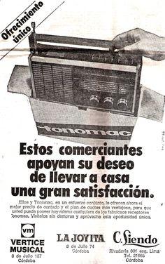 Publicidad de la ciudad de Córdoba, década del 60.