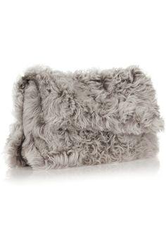 Elizabeth and James | Jack leather-trimmed shearling shoulder bag | NET-A-PORTER.COM