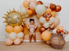 Balloon Backdrop, Balloon Garland, Balloon Decorations, Birthday Decorations, First Birthday Photos, Baby Birthday, 1st Birthday Parties, Baby Shower Fruit, Baby Shower Deco