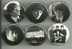 Set 4 in our series of Beatles Early Days pins. The portrait shots of the Beatles used for these pins were taken by legendary Beatles photographer Astrid Kirchherr. All pins are 1.5 inches in diameter