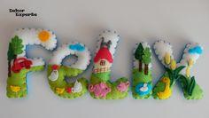 Kinderzimmerdekoration - 3D Buchstaben für Namenskette Girlande ab 10€/Stk - ein Designerstück von DekorExperte bei DaWanda