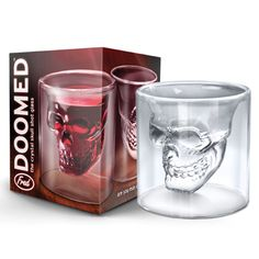 Doomed Skull Shot Glass $6 Inked