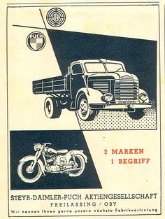 Steyr Trucks - Puch motorcycles from Austria