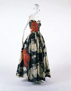 """""""Fusée"""" dress, Jeanne Lanvin (French, 1867–1946) for the House of Lanvin (French, founded 1889): 1938, French, silk."""