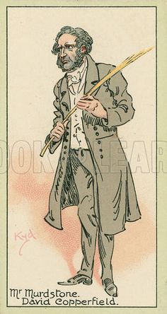 Mr Murdstone, David Copperfield. Characters from Dickens, cigarette cards published by John Player, early 20th century.