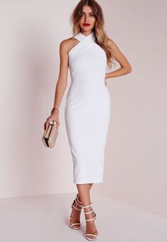 Up your style game this season in this off the hook white midi dress. I 651e6b321f2e