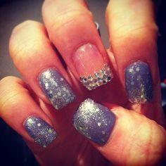 diamond Nail Designs | Glitter and Gem Nail Design | Genevieve Warburton