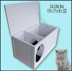 9284066a8531a7 Cat Litter Box | Etsy Giocattoli Per Gatti Fai Da Te, Mobilio Per Animali Da