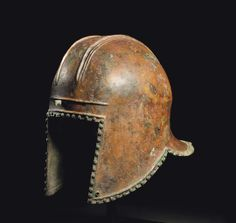 Ancient to Medieval (And Slightly Later) History - Greek Bronze Illyrian Helmet, Century BC Greek Artifacts, Ancient Artifacts, Iron Age, Greek Helmet, Helmet Armor, Ancient Armor, Greek Warrior, Dark Ages, Ancient Civilizations