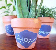 design inspiration: chalkboard planters