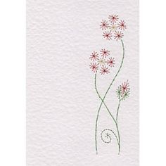 Free Flower Bookmark Paper Embroidery e-pattern