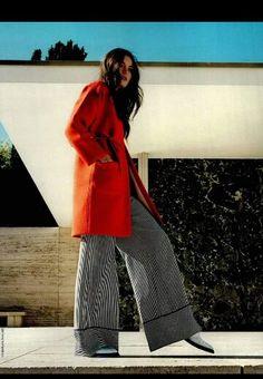 Total look stefanel per il redazionale vogue business germania: cappotto adesivato e pantalone palazzo #stefanel #stefanelvigevano