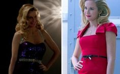Pam (Kristin Bauer van Straten) and Sarah Newlin (Anna Camp) are set for a Southern-off in HBO's True Blood Season 7 Kristin Bauer Van Straten, True Blood Series, Anna Camp, Alexander Skarsgard, Season 7, New Movies, Southern, Two Piece Skirt Set, Actresses