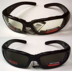2 Motorcycle Glasses Sunglasses Smoked Clear Lens Has Padding to Protect Against Wind Shatterproof Polycarbonate Lenses Also Great for ATV Quad Jogging Paintball Sports Outdoors New #Motorcycle #Glasses #Sunglasses #Smoked #Clear #Lens #Padding #Protect #Against #Wind #Shatterproof #Polycarbonate #Lenses #Also #Great #Quad #Jogging #Paintball #Sports #Outdoors