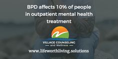 BPD affects 10% of people in outpatient mental health treatment.  #borderlinepersonalitydisorder Find out about #DBT